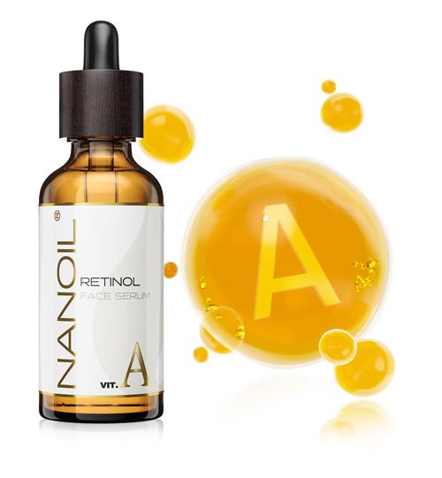 Nanoil moisturizing face serum with Retinol